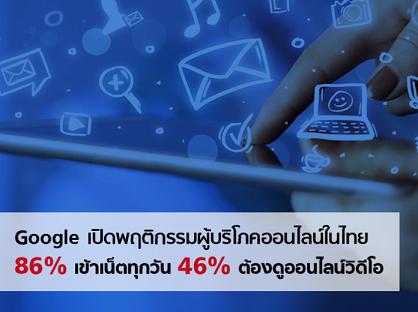 Google เปิดพฤติกรรมผู้บริโภคออนไลน์ในไทย